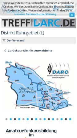 Vorschau der mobilen Webseite www.darc.de, Deutscher Amateur-Radio-Club e.V. (DARC), Distrikt Ruhrgebiet
