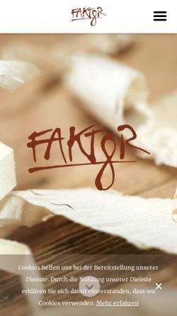 Vorschau der mobilen Webseite www.faktor8.at, Faktor 8 - Tischler, die neue Wege gehen