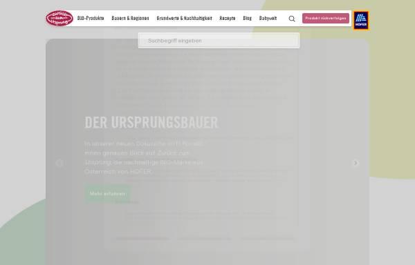 Vorschau von www.zurueckzumursprung.at, Zurück zum Ursprung