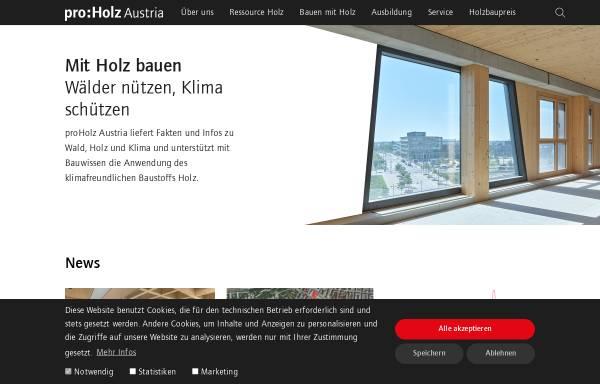 Vorschau von www.proholz.at, PROHOLZ