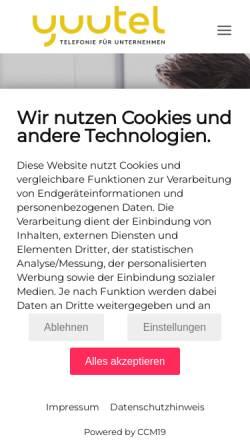Vorschau der mobilen Webseite atms.at, Atms - Telefon- und Marketing Services GmbH