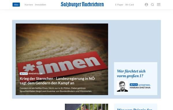 Vorschau von www.salzburg.com, Salzburger Nachrichten - Schwerpunkt Wahl 2002