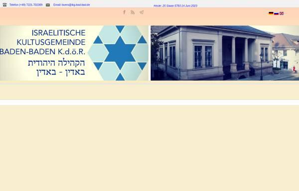 Vorschau von www.ikg-bad-bad.de, Israelitische Kultusgemeinde Baden-Baden