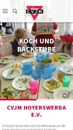 Vorschau der mobilen Webseite www.cvjm-hoyerswerda.de, CVJM Hoyerswerda