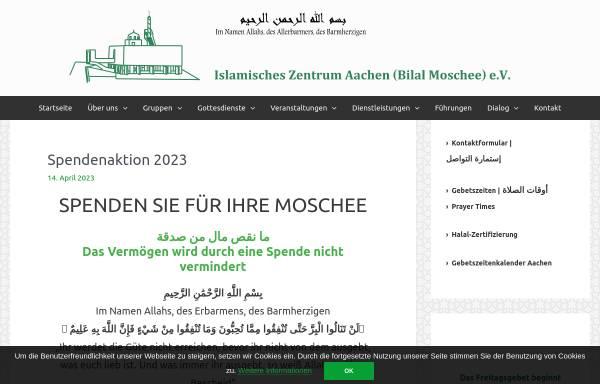 Vorschau von izaachen.de, Islamisches Zentrum Aachen (Bilal-Moschee) e.V.