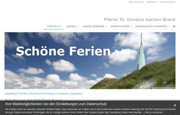 Vorschau von www.st-donatus.de, Messdiener St. Donatus & Erlöserkirche aus Aachen-Brand