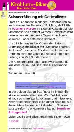Vorschau der mobilen Webseite www.kirchturmbiker.de, Kirchturm-Biker Bad Salzuflen
