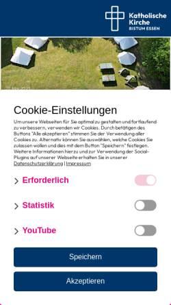 Vorschau der mobilen Webseite www.bistum-essen.de, Bistum Essen