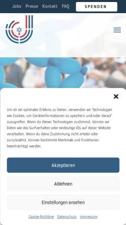 Vorschau der mobilen Webseite www.jgdus.de, Jüdische Gemeinde Düsseldorf