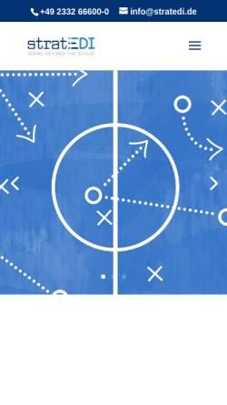 Vorschau der mobilen Webseite www.stratedi.de, Stratedi GmbH