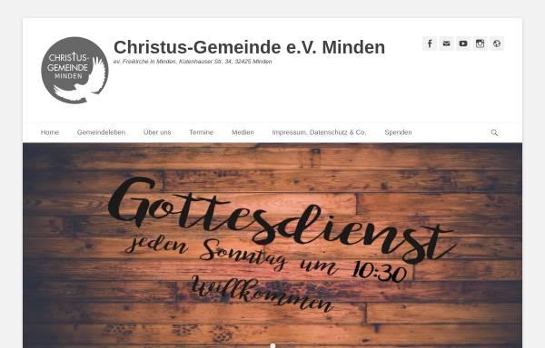 Vorschau von www.christus-gemeinde-minden.de, Christus-Gemeinde e.V.