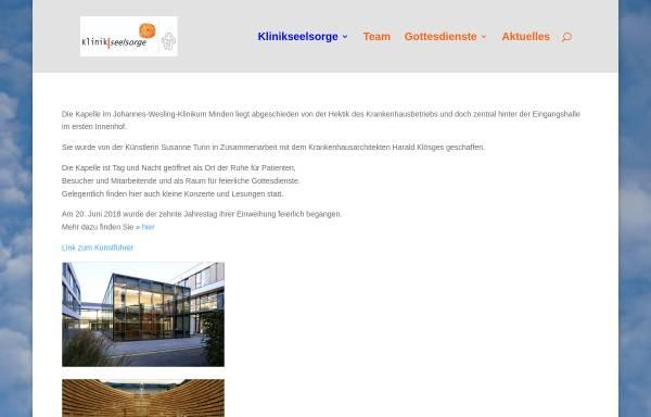Vorschau von www.krankenhauskapelle-minden.de, Evangelische Krankenhausseelsorge im Johannes Wesling Klinikum