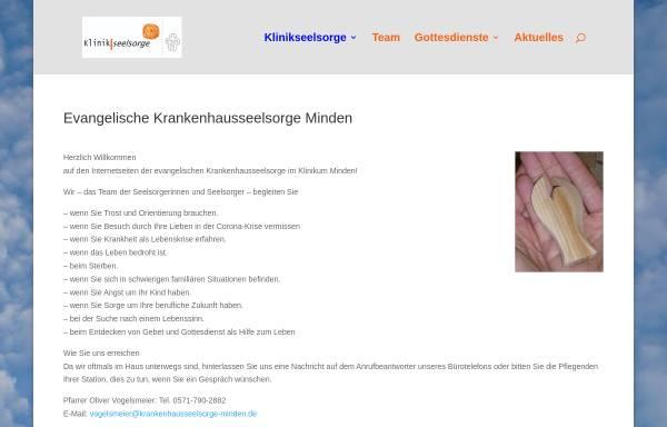 Vorschau von www.krankenhausseelsorge-minden.de, Evangelischen Krankenhausseelsorge