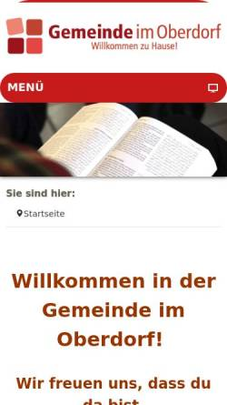 Vorschau der mobilen Webseite gemeinde-im-oberdorf.de, Evangelisch-Freikirchliche Gemeinde (Baptisten)
