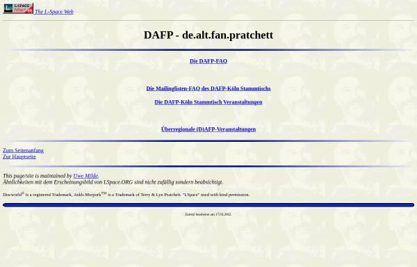 Vorschau von www.lspace.de, [de.alt.fan.pratchett] DAFP