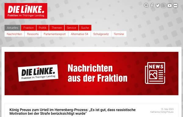 Vorschau von www.die-linke-thl.de, Die Linke.-Landtagsfraktion Thüringen