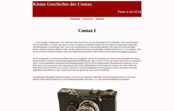 Vorschau von members.chello.at, Peter Lausch: Kleine Geschichte der Contax