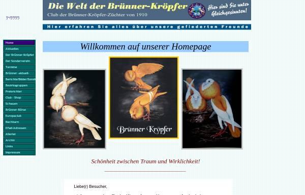 Vorschau von www.cbz-1910.de, Club der Brünner-Kröpfer-Züchter