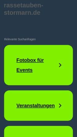 Vorschau der mobilen Webseite www.rassetauben-stormarn.de, Rassetaubenzuchtverein Stormarn