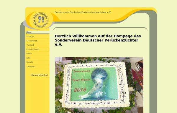 Vorschau von www.svdp.de, SV der Deutschen Perückentaubenzüchter