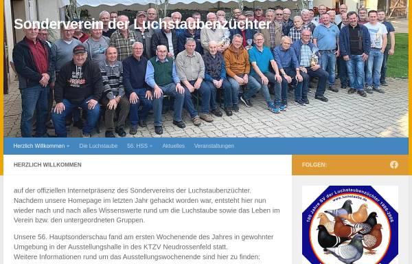 Vorschau von www.luchstaube.de, SV der Luchstaubenzüchter