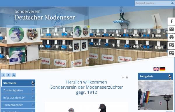 Vorschau von www.modeneser.de, SV der Modeneserzüchter