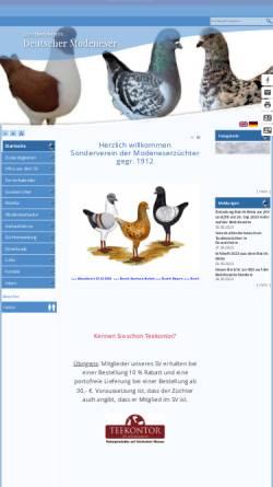 Vorschau der mobilen Webseite www.modeneser.de, SV der Modeneserzüchter