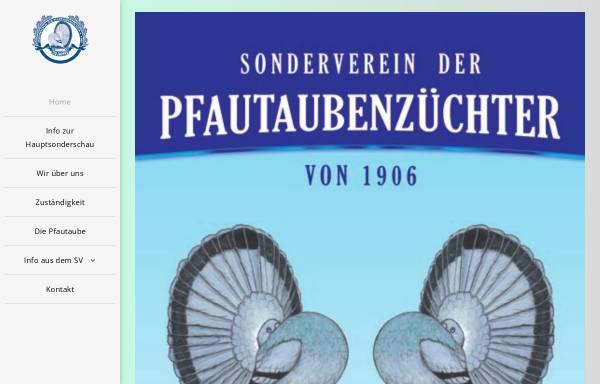 Vorschau von www.pfautauben.de, SV der Pfautaubenzüchter