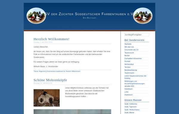 Vorschau von www.rassetauben.ch, SV der Süddeutschen Farbentaubenzüchter
