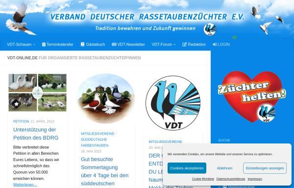 Vorschau von www.vdt-online.de, Verband Deutscher Rassetaubenzuechter e.V.