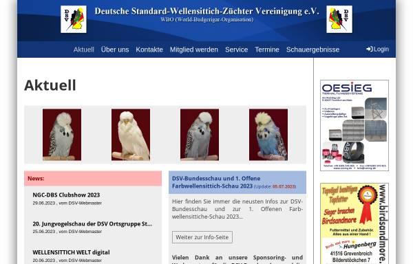 Vorschau von www.dsv-ev.de, Deutsche Standard-Wellensittich-Züchter-Vereinigung e. V
