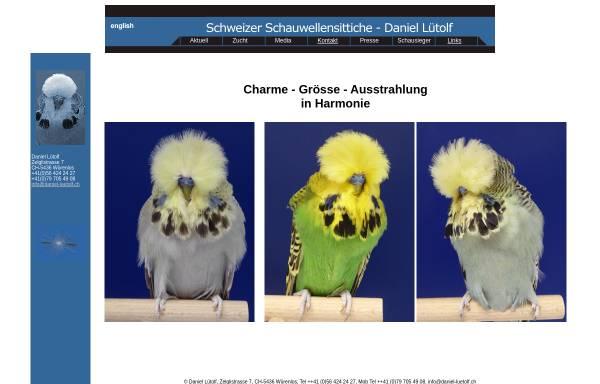 Vorschau von www.daniel-luetolf.ch, Schauwellensittichzucht