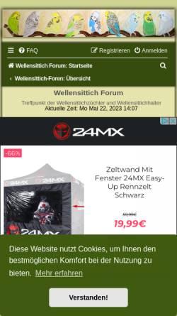 Vorschau der mobilen Webseite www.wellensittich.de, Schauwellensittichzucht Stenglein