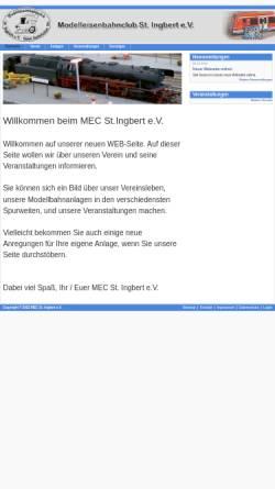 Vorschau der mobilen Webseite mec-igb.de, MEC Modelleisenbahnclub St. Ingbert e.V.