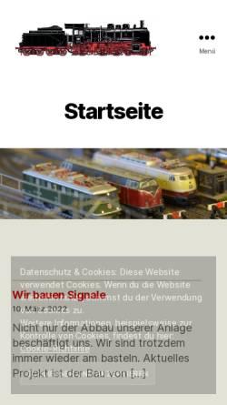 Vorschau der mobilen Webseite www.mbc-weilderstadt.de, Modellbahnclub Weil der Stadt e.V.