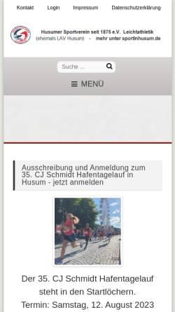 Vorschau der mobilen Webseite www.lav-husum.de, LAV Husum