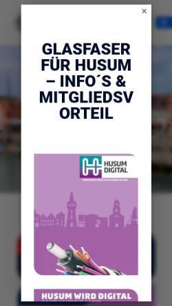 Vorschau der mobilen Webseite www.tsvhusum.de, TSV Husum 1875