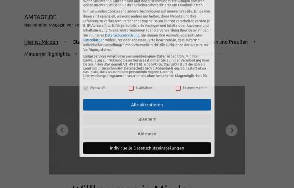 Vorschau von www.amtage.de, Amtage.de - das Minden Magazin