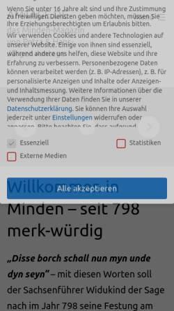 Vorschau der mobilen Webseite www.amtage.de, Amtage.de - das Minden Magazin