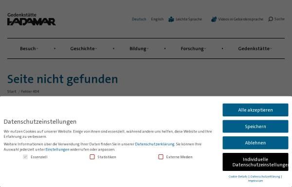 Vorschau von www.gedenkstaette-hadamar.de, Gedenkstätte Hadamar