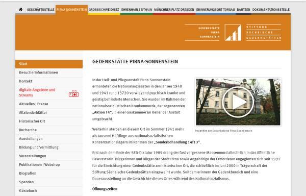 Vorschau von www.stsg.de, Gedenkstätte Pirna-Sonnenstein