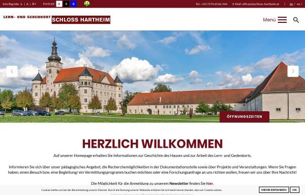 Vorschau von www.schloss-hartheim.at, Gedenkstätte Schloß Hartheim