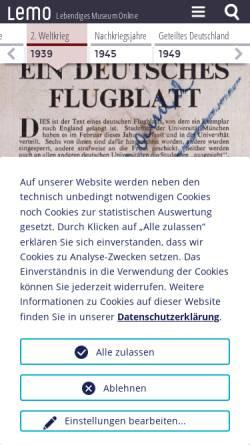 Vorschau der mobilen Webseite www.dhm.de, Weiße Rose