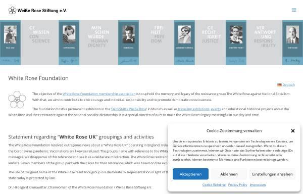 Vorschau von www.weisse-rose-stiftung.de, Weiße Rose Stiftung e. V.
