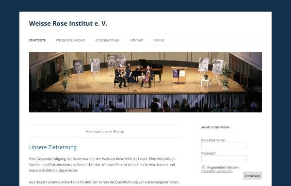 Vorschau von www.weisserose.info, Weisse Rose Institut e.V.