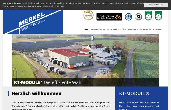 Vorschau von www.kt-module.com, G.M.B. KT-Modulgerüst GmbH