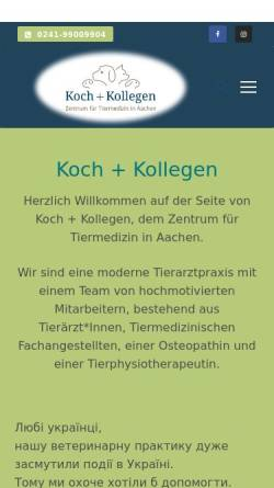Vorschau der mobilen Webseite www.vet-ac.de, Tierarztpraxis Thomas Koch