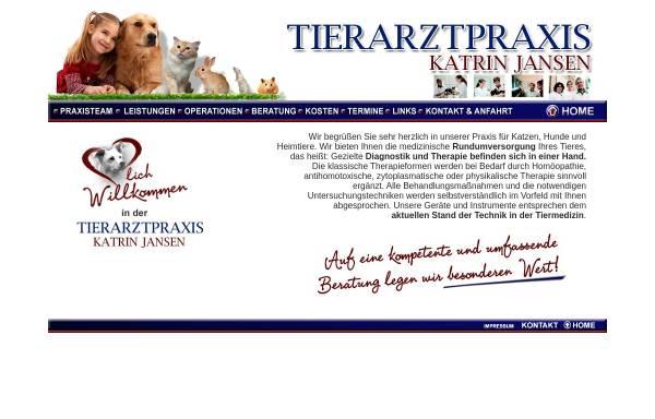 Vorschau von www.tierarztpraxis-jansen.de, Katrin Jansen, Tierärztin