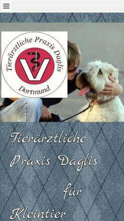 Vorschau der mobilen Webseite www.tierarztpraxis-daglis.de, Tierärztliche Praxis Daglis