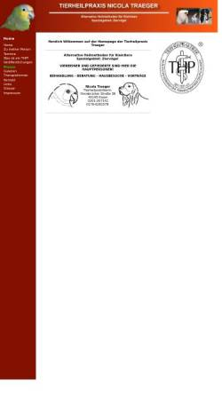 Vorschau der mobilen Webseite www.tierheilpraxis-traeger.de, Nicola Traeger, Tierheilpraxis
